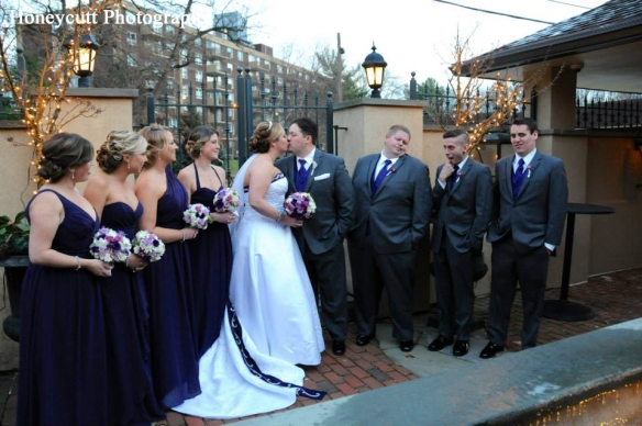 Delaware Wedding Florist - Harry's Savoy - Purple - Dan & Jen (6)